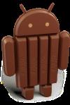 android kitkat logo fornt