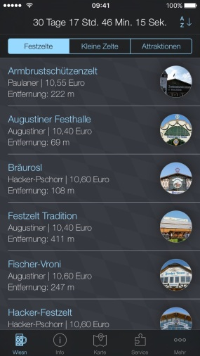Oktoberfest wiesn 2018 app